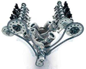 V образный 4 цилиндровый двигатель